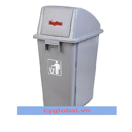 Thùng chứa rác tái chế có nắp đẩy GX-001A