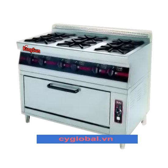 Bếp âu 6 đầu kèm lò nướng gas WGF6-7